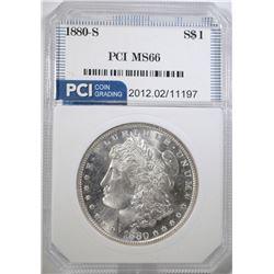 1880-S MORGAN DOLLAR, PCI SUPERB GEM BU