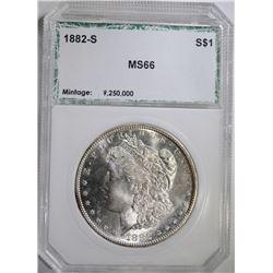 1882-S MORGAN DOLLAR, PCI SUPERB BU