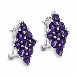 STERLING SILVER AFRICAN AMETHYST EARRINGS