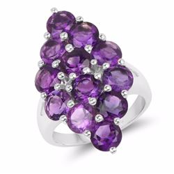 STERLING SILVER AFRICAN AMETHYST RING