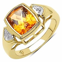 STERLING SILVER MADEIRA CITRINE RING