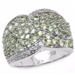 Sterling Silver Green Sapphire Ring