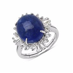 Sterling Silver Cabochon Tanzanite Ring