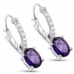 Sterling Silver African Amethyst Earrings