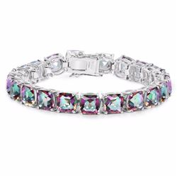 Sterling Silver Mystic Quartz Bracelet