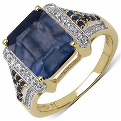 Sterling Silver Octagon Sapphire Ring