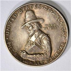 1920 PILGRIM HALF DOLLAR AU