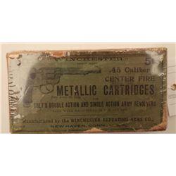 "18BJ-5 COLT 1878 AMMO-PARTIALDesirable partial ""picture"" box (picture of  Colt Model 1878 DA revolve"