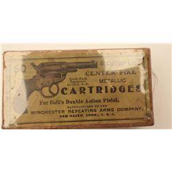 """18BJ-6 FULL BOX .41 CALDesirable full """"picture"""" box (picture of Colt  Model 1877 Thunderer DA revolv"""