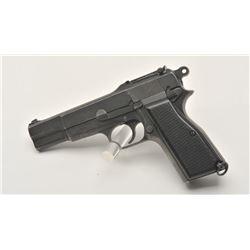 17MH-8 INGLIS MKI PISTOL #4CH3522Inglis MK 1 semi-automatic pistol, 9mm  caliber, mat black finish,