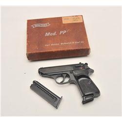 18AJ-2 NPPK-S-22 #115180Walther Model PPK/S DA semi-automatic pistol,  .22LR caliber, blued finish,