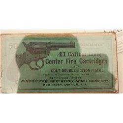 "18BJ-10 FULL BOX COLT 1877 .41 CAL.Desirable full ""picture"" box (picture of Colt  Model 1877 Thunder"