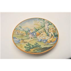 EVE-38 ITALIAN CHARGER18th to 19th century Italian charger with  amusingly suggestive scenes marked