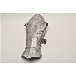 18AT-13 EXCAVATED CHANFRONExcavated chanfron or defense for a horse  with partial mail attached. Pos
