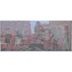 EVE-45 IMPRESSIVE EMBROIDERYImpressive embroidery of battle scenes  probably China circa 16th to 18t