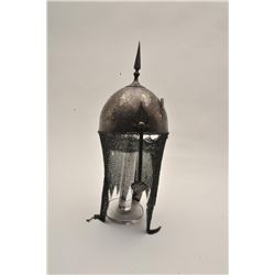 18BW-5 PERSIAN HELMETVery good 19th century Persian helmet, khula  khud. etched with battle scenes a