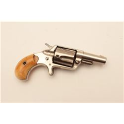 18CF-3 COLT NEW LINEColt New Line .38 caliber revolver nickel  plated with authentic period ivory gr