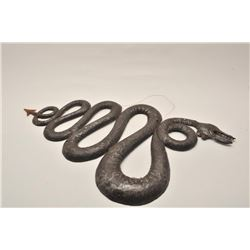 EVE-46 TWO HAND FORGED SNAKESTwo handed forged Spanish colonial era snakes  for decorating coach. Me