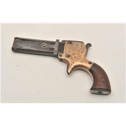 18ASS-7 MARSTONRare and desirable Marston 3-shot spur  trigger derringer, .22 caliber, engraved  bra