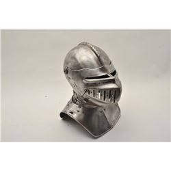 18AT-11 CLOSED HELMVictorian armorer made closed helmet with  gorget in Maximillian style showing ve