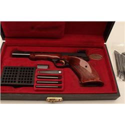 18AB-2 BROWNING MEDALIST #38424T5Browning Medalist semi-automatic pistol, .22  Long Rifle, Serial #3