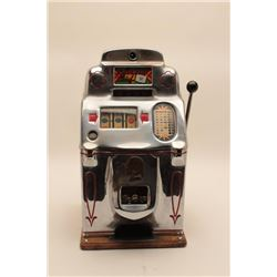 "18AL-33 JENNINGS SLOTJennings Chief Model antique 5 cent slot  machine, approximately 28"" in height"