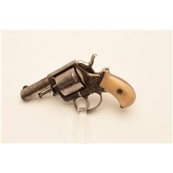 18BL-6 BULLDOG BRITISHEngraved British Bulldog revolver, .44  caliber, Serial #NSNV.  The pistol is