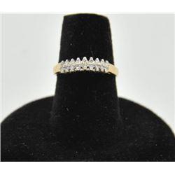 18RPS-30 DIAMOND RINGOne 14k  diamond pyramid ring set with 18  diamonds weighing 0.15ct EST:$250-50