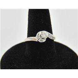 18RPS-33 DIAMOND RINGOne beautiful art deco ring set with 11  weighing 0.15ct Diamonds in 14k white