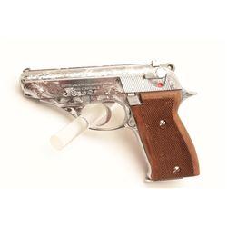 "18BM-65 ASTRA CONST.Astra Constable engraved .22 LR chromed semi  automatic pistol, #1258416, 3 1/2"""