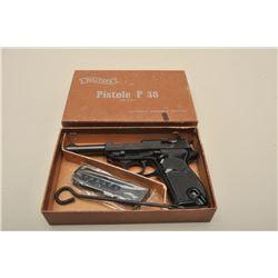 "17FL-181 WALTHER P38 1968 COMM. #019210EWalther Model P-38 semi-automatic pistol, 9mm  caliber, 5"" b"