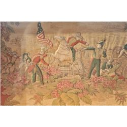 """EVE-40 FRAMED PAINTINGFramed painting and print on fabric entitled  """"Battle of Buena Vista, 1847"""". M"""