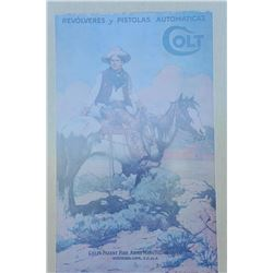 """18AP-68 TEX AND PATCHESFramed and matted copy of the famous Colt's  advertiser """"Tex and Patches"""", in"""