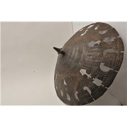 """EVE-55 BRONZERare cast bronze shield possibly Luristan and  300-600 B.C. Measures approximately 30"""""""