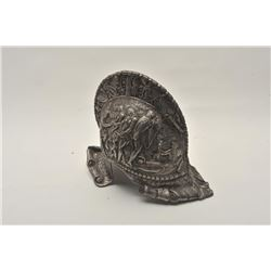 18AT-18 CAST IRON MUSEUM COPY HELMETCast iron morian from Victorian era showing  nudes and ancient s