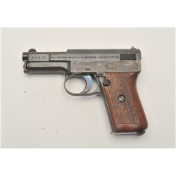 18AA-12 MAUSER POCKET #53405Mauser Model 1910 Pocket semi-auto pistol,  .25 caliber, Serial #53405.