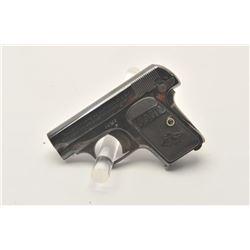 17MH-13  COLT 1908 #54788Colt Model 1908 Pocket semi-automatic pistol,  .25 caliber, high polish blu
