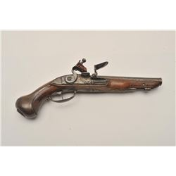 """18AR-40 FRENCH FLINTLOCKFrench flintlock pistol, approximately 11""""  overall with a 6"""" barrel, wood s"""