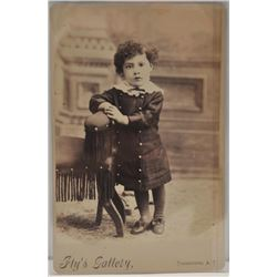 18EMY-24 MISC LOTLot of 2 early Cabinet photos, each of a  child; 1 holding a rifle and indentified