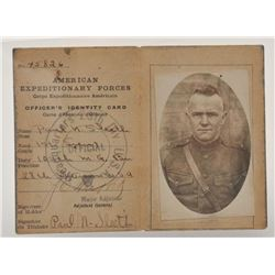 18EMY-23 MISC LOTBinder including lot of 5 early military and  western Cabinet photos including a Ga