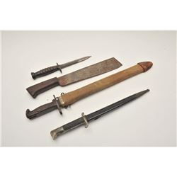 18AL-68 MISC. LOTLot of 4 military bladed weapons including an  un-marked U.S. carbine bayonet, like
