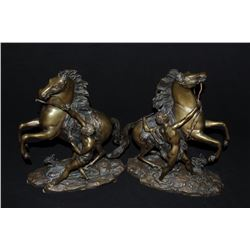 """17GZ-4 CHEAUX DE MARLY SIGNEDPair of Chevaux De Marly, known as """"Marley  Horses"""" signed """"Coustou"""" on"""