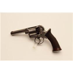 18AR-70 500 BORE PERCLarge frame Adam's Patent DA percussion  revolver, .500 bore, barrel shortened