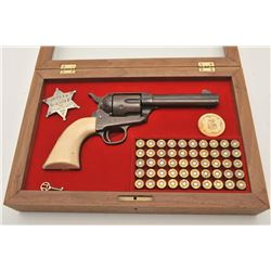 "18AP-20 COLT SA #71410Colt SAA revolver, .45 caliber, 4.75"" barrel,  brown re-finish to metal surfac"