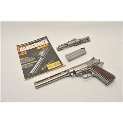18BM-72 WILDEYWildey Firearms Model 450 stainless .45 Win  Mag cal. semi automatic pistol 2 barrel s