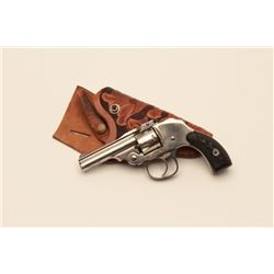 18AN-3 FOREHAND & WADSWORTHForehand & Wadsworth 1901 hammerless with  carved holster in very good co