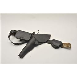 """18AL-26 DRAGOON HOLSTERDragoon flap holster marked """"E. Gaylord"""" on  belt with Non-Commissioned or En"""