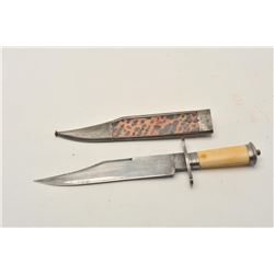 """18CA-15 CROOKES & CLARK BOWIE""""Crookes and Clark"""" marked clipped point  bowie knife made for Mexican"""