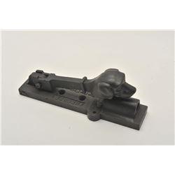 18CA-347 RARE FRENCH 12 BORE PINFIRERare French 12 bore pinfire cast iron trap  gun with dogs head s