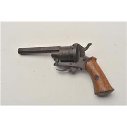"18CA-309 BELGIAN PINFIREBelgian pinfire 7mm revolver circa 1860-70's.  Measures 8"" overall with a 3"